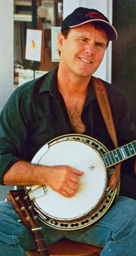 Terry with banjo